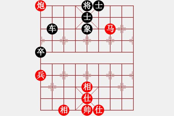 象棋棋谱图片:李雪松     先和 靳玉砚     - 步数:142
