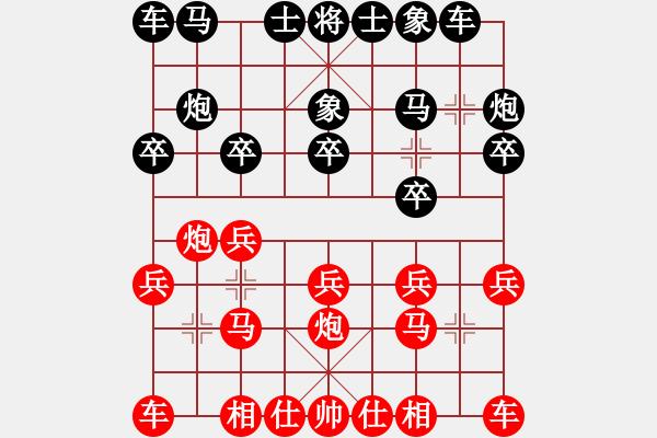 象棋谱图片:李锦欢 先和 许银川 - 步数:10