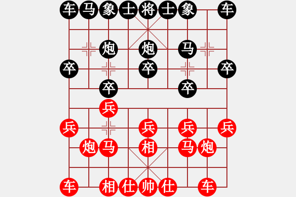 象棋谱图片:河北 刘钰 和 四川 郎祺琪 - 步数:10