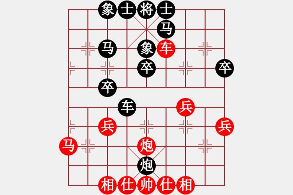 象棋棋谱图片:广东 吕钦 和 广东 许银川 - 步数:40