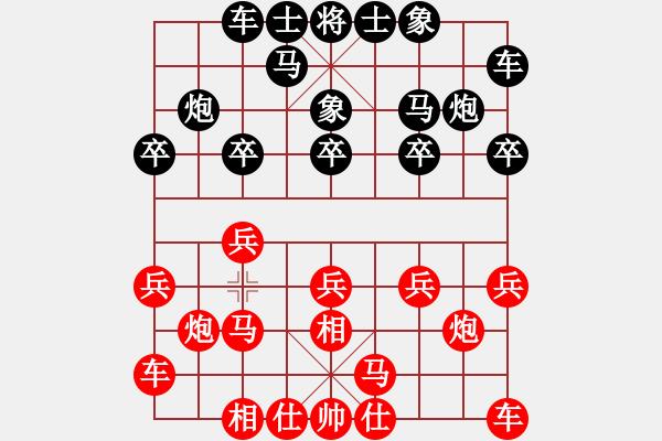 象棋棋谱图片:江苏棋院 李沁 胜 广东碧桂园队 安娜 - 步数:10