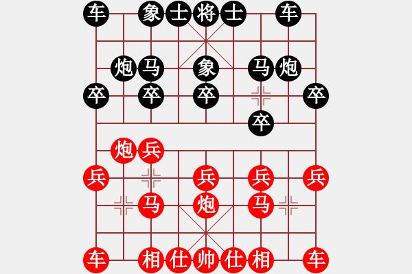 象棋棋谱图片:孙勇征 先和 郑惟桐 - 步数:10