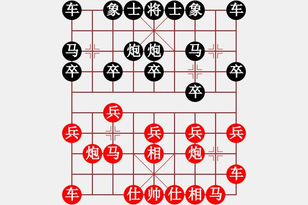 象棋棋谱图片:王天一 先和 谢靖 - 步数:10