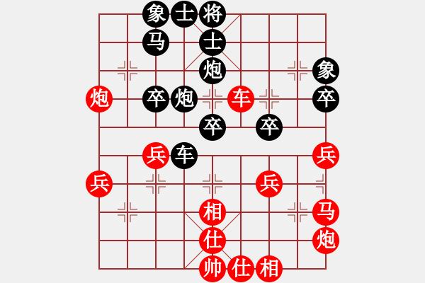 象棋棋谱图片:王天一 先和 谢靖 - 步数:40