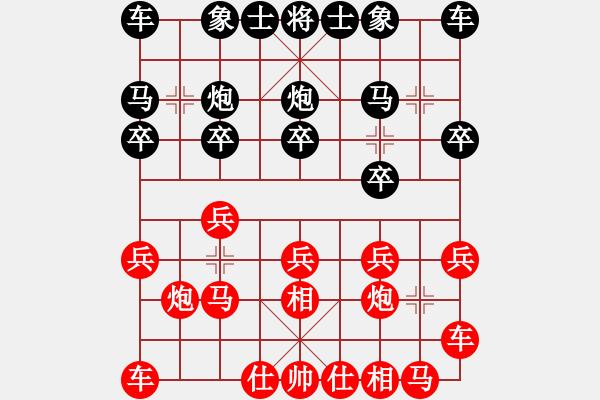 象棋棋谱图片:赵鑫鑫 先和 许银川 - 步数:10