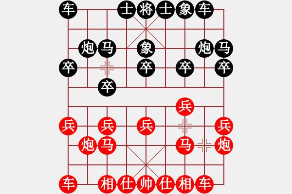 象棋棋谱图片:山东中国重汽队 陈富杰 和 江苏海特股份队 吴魏 - 步数:10