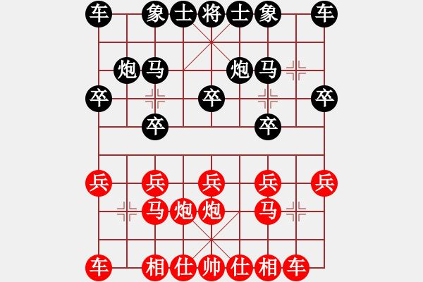 象棋棋谱图片:北京中加实业 唐丹 胜 山东宏远 刘钰 - 步数:10