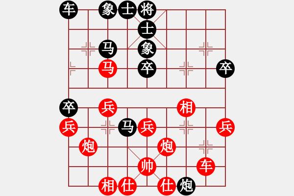 象棋棋谱图片:吕钦       先胜 卜凤波     - 步数:40