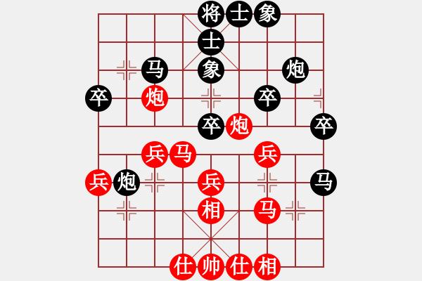 象棋棋谱图片:烂冬瓜(6段)-和-大象小象(2段) - 步数:40