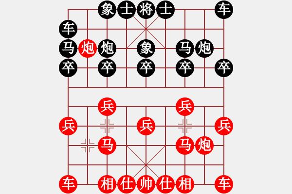 象棋谱图片:谢靖       先和 宋国强     - 步数:10