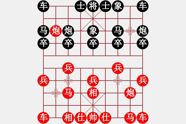 象棋棋谱图片:第二局五羊杯对局 许银川 和 胡荣华 - 步数:10