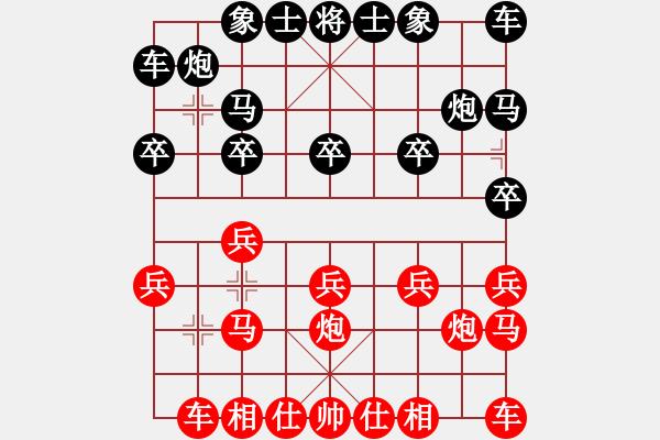 象棋棋谱图片:黄土地[红] -VS- 象棋争锋[黑] - 步数:10