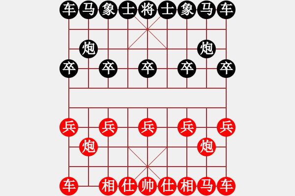 象棋棋谱图片:19 让左马得先顺炮直车局 - 步数:0