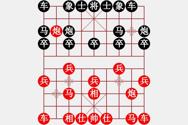 象棋谱图片:张江       先和 邱东       - 步数:10
