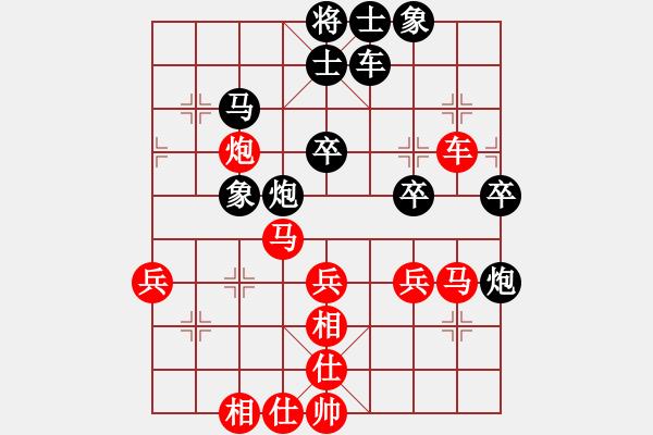 象棋棋谱图片:杭州 王天一 胜 河南 武俊强 - 步数:40