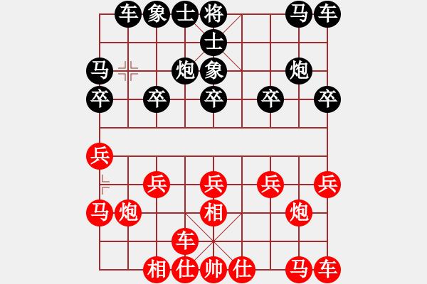 象棋棋谱图片:杭州 王天一 胜 浙江 赵鑫鑫 - 步数:10