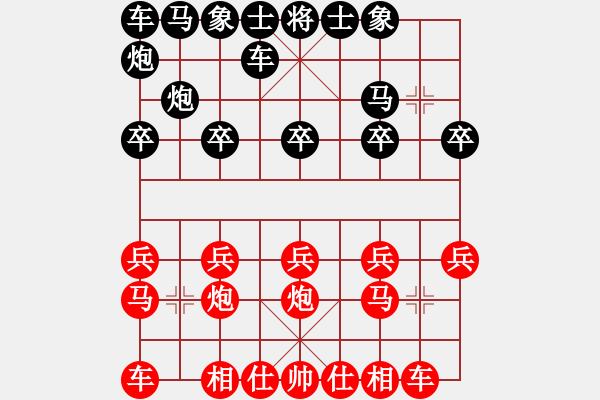 象棋棋谱图片:陈文勇         先负 王德龙         - 步数:10