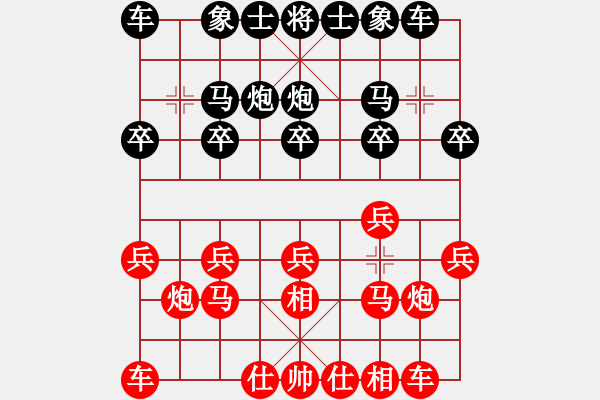 象棋棋谱图片:20101020 2125 六六大顺[878789475] - 东萍公司弈天[88081492].c - 步数:10