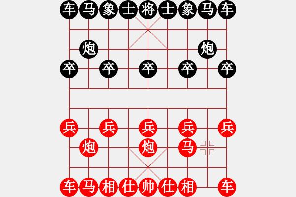 象棋棋谱图片:16 让双先顺炮破士角炮局 - 步数:0