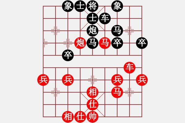 象棋棋谱图片:杭州环境集团队 申鹏 和 广东碧桂园队 许国义 - 步数:40