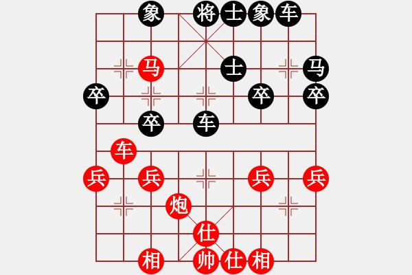 象棋棋谱图片:7 直车马炮局 - 步数:40