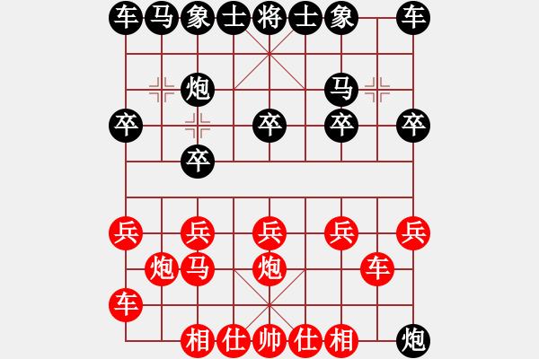 象棋棋谱图片:2020.4.30.4步时三十秒后胜郭建亮 - 步数:10