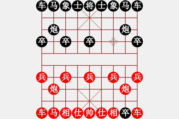 象棋谱图片:庄玉庭 先和 窦超 - 步数:1