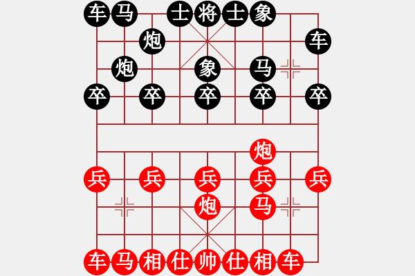 象棋棋谱图片:中炮对龟背炮 - 步数:10
