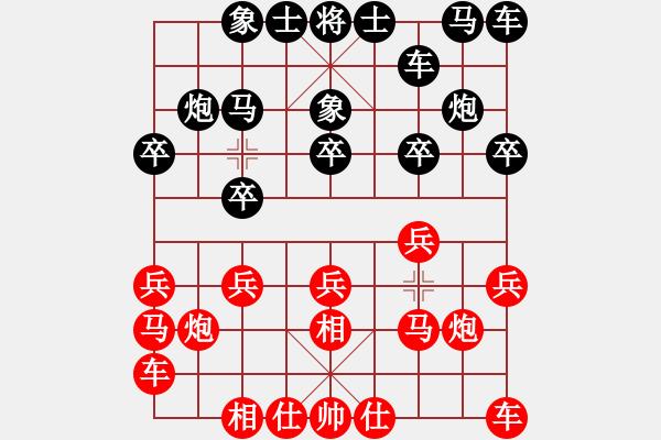 象棋谱图片:潘振波 先和 程鸣 - 步数:10