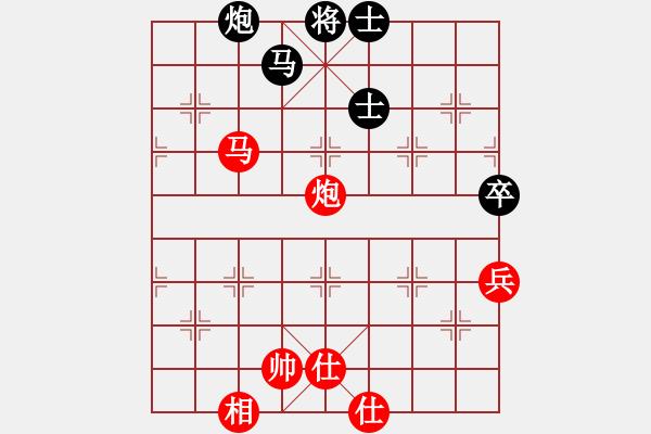 象棋谱图片:中炮对半途列炮左炮封车之炮8平7对车八平七参考对局3 - 步数:100