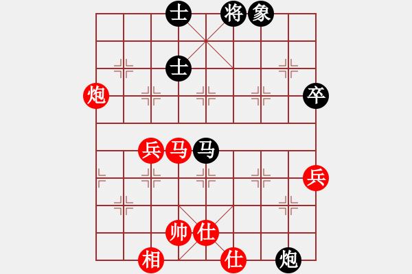 象棋谱图片:中炮对半途列炮左炮封车之炮8平7对车八平七参考对局3 - 步数:60